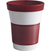cupit To Go Becher 0,35 l mit Trinkdeckel Magic Grip dark cherry